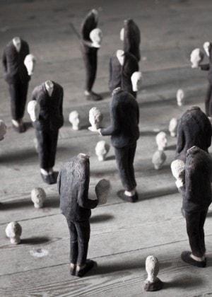 Pensatoi, terracotte policrome, dimensioni varie