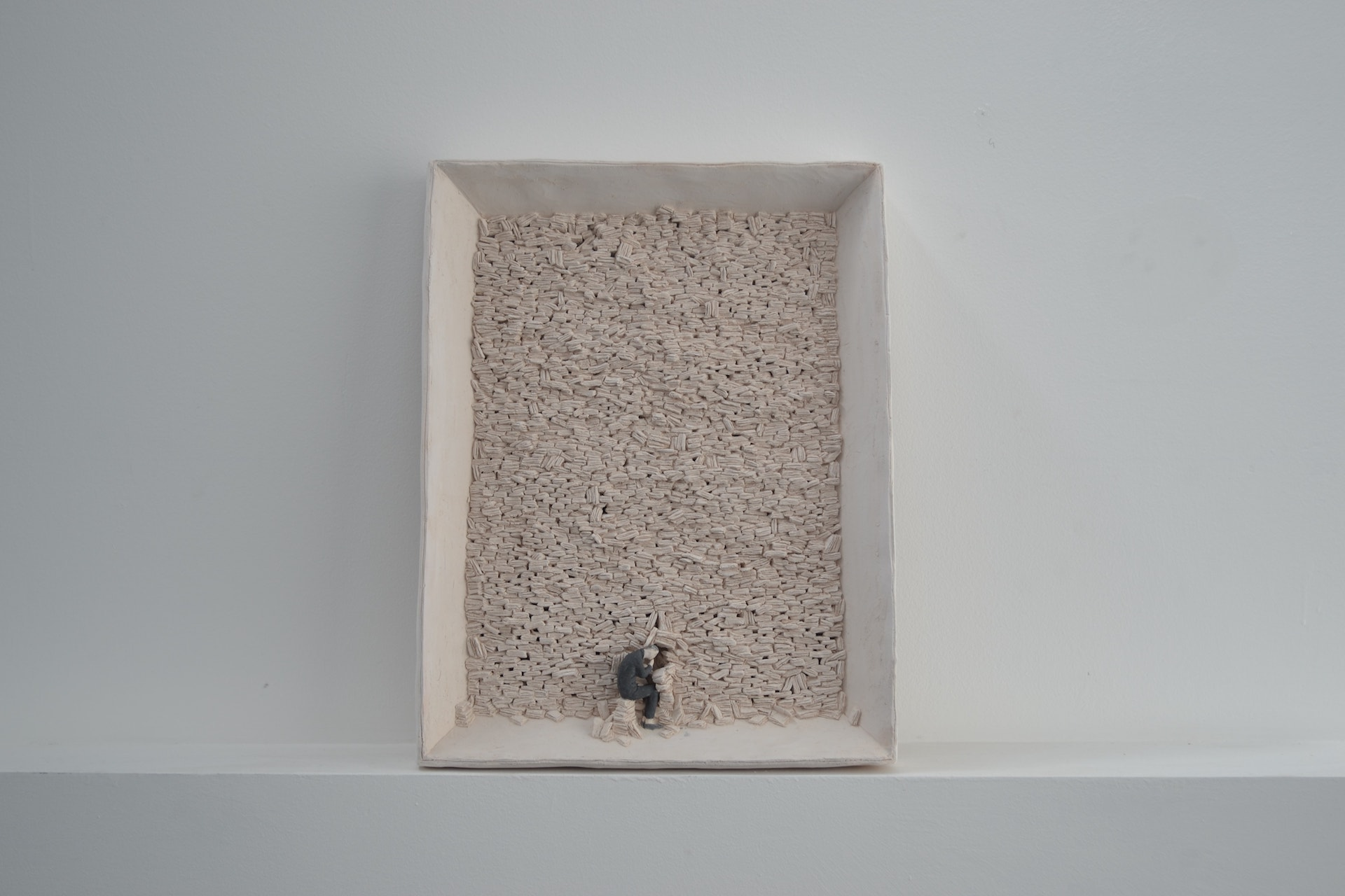 San Tommaso, 2018, terracotta a ingobbio, 39 x 52 x 6 cm